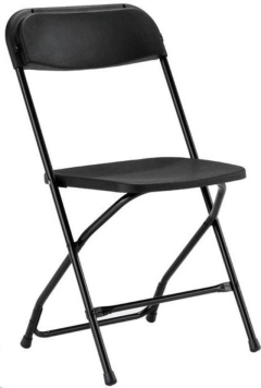 Where to rent CHAIR, FOLDING BLACK in Mount Pleasant MI