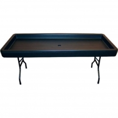 Rental store for BAR, COLD FOOD BEV TABLE BLACK 69 X29 in Mt Pleasant MI