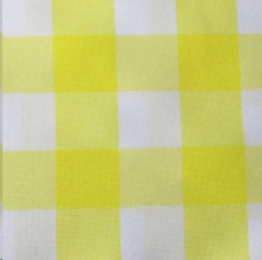 Where to rent LEMON WHITE POLY CHECK LINEN in Mount Pleasant MI