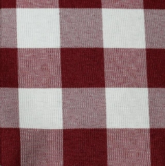 Where to rent BURGUNDY WHITE POLY CHECK LINEN in Mount Pleasant MI