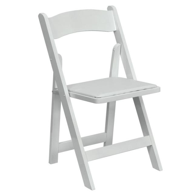 Where to find CHAIR, WHITE GARDEN W PAD RESIN in Mt Pleasant