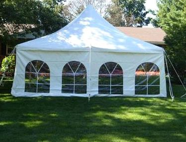 Tent Side White French 8 Foot H X 20 Foot L Rentals Mount