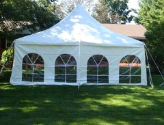 Where to rent TENT, SIDE WHITE FRENCH 8  H X 20  L in Mount Pleasant MI