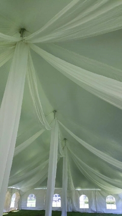 Where to rent STREAMER PKG FULL 40-60  WIDE POLE TENT in Mount Pleasant MI