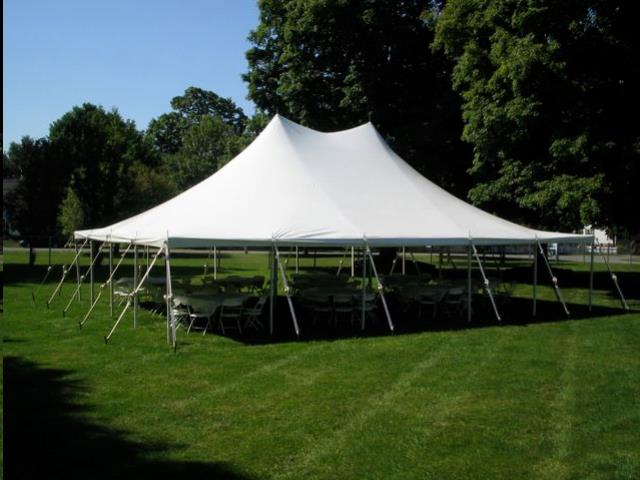 Where to find 30  WIDE SPARKLING WHITE POLE TENTS in Mount Pleasant