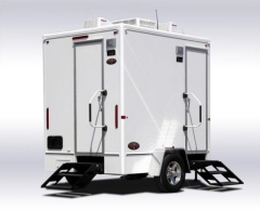 Where to rent 2 UNIT MOBILE RESTROOM TRAILER in Mount Pleasant MI