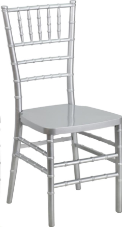 Where to rent SILVER CHIAVARI CHAIR in Mount Pleasant MI